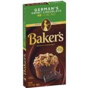 Baker's German's Sweet Chocolate (4oz, 113g)